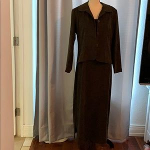 Vintage Jessica Howard Faux suade Dress and Jacket